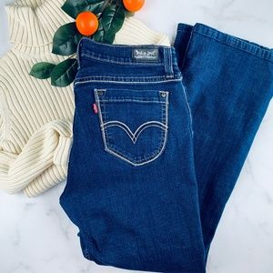 Levi's 529 bootcut jeans size 16M med wash stretch